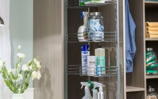 custom designed laundry room organization & storage