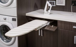 custom designed laundry room organization & storage